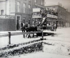 Derby Road Bridge, Liverpool -  22nd May 1894 the route from Seaforth to the Pier Head