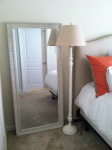 love the mirror not on the back of the door....adds a little extra to the floor