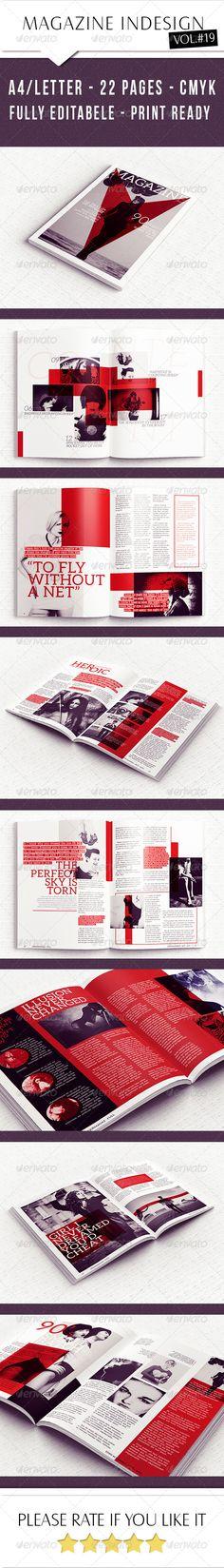Elegant Magazine Template - Magazines Print Templates