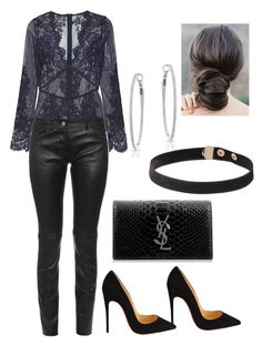 Untitled #3580 by deavlyn on Polyvore featuring polyvore, fashion, style, I.D. SARRIERI, Balenciaga, Christian Louboutin, Yves Saint Laurent and clothing