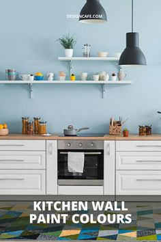 Your kitchen wall paint colour can set the mood for the day ahead. Check out eight kitchen wall paint inspirations for your home worth that are considering. // modular kitchen // kitchen paint colors // kitchen wall colors // small kitchen paint colors // best kitchen paint colors // kitchen paint schemes #kitchen #modularkitchen #kitchenwallcolors #bestkitchenpaintcolors Paint Colors Kitchen Walls, Bedroom Wall Paint Colors, Kitchen Paint Schemes, Green Kitchen Walls, Room Wall Painting, Paint Colors For Home, Wall Paint Colour Combination, Wall Paint Inspiration, Blue Painted Walls