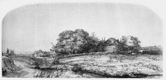 rembrandt landscape drawings - Google Search