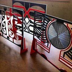 Para Matchitt. Laser cut perspex Maori Designs, Laser Cutter Ideas, New Zealand Art, Maori Art, Wood Carving Art, Cut Outs, Installation Art, Metal Art, New Art