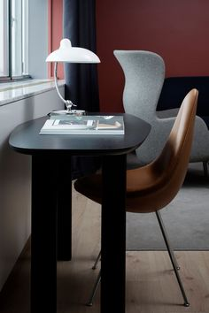 LED Schreibtischlampe ALEX 3,2W Tischlampe Schreibtischleuchte B/üroleuchte f/ür Kinder und B/üro Modern Schwarz