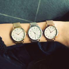 Wir sind ganz verliebt in die Rosefield Uhren. Es gibt sie in vielen Farbvariationen und so ist für jeden Typ die richtige Uhr dabei. <3
