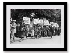 Children's Crusade for Amnesty, 1922, Industrial Chic, Black and White Photo Print, Protest, Parade, Union, Historical Print, Large Art,