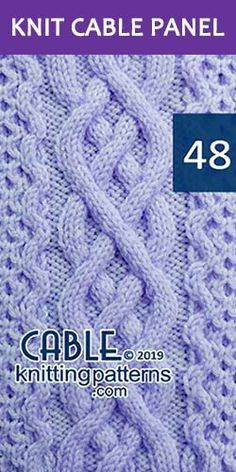 Knit Cable Panel Pattern its FREE – Knitting Patterns Beanie Cable Knitting Patterns, Knitting Stiches, Lace Knitting, Knit Stitches, Knitting Ideas, Free Baby Blanket Patterns, Celtic Patterns, Knitted Afghans, Vogue Knitting