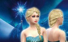 Elsa Hair at My Stuff via Sims 4 Updates