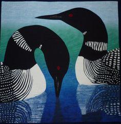 Home - a quilt by Diane Becka Bird Illustration, Illustrations, Linocut Prints, Art Prints, Watercolor Bird, Native Art, Wildlife Art, Felt Art, Art Drawings