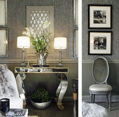 Glam Grass and Liquid Metal Wallpaper Yes Please!