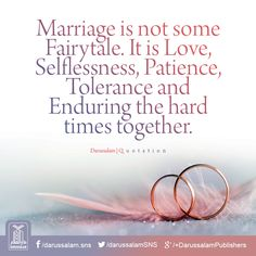 Islamic Quotes on Sabr/Patience. Islam is the complete code of life. Allah SWT has given us the book of Quran for our guidance. Sabr and patience in Islam have been given great importance as it makes us pious and increases our Iman and faith in Allah SWT. Islamic Love Quotes, Islamic Quotes On Marriage, Good Marriage Quotes, Muslim Couple Quotes, Muslim Love Quotes, Love In Islam, Wife Quotes, Islamic Inspirational Quotes, Husband Quotes