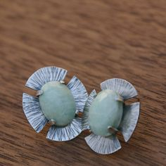 Aventurine Earrings in sterling silver by agambroult on Etsy, $135.00
