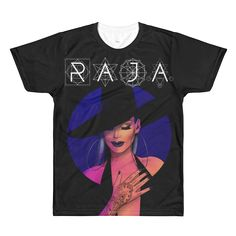 49935bf79 RAJA BLACK HAT SUBLIMATED T-SHIRT – dragqueenmerch Size Chart, American  Apparel, Charts