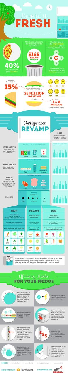 This Infographic Shows You How to Organize Your Fridge
