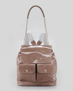 Suede and Patent Leather Backpack, Taupe by Brunello Cucinelli at Neiman Marcus.81000руб