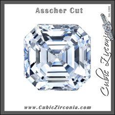 Asscher Cut Cubic Zirconia Loose Stones http://www.cubiczirconia.com/collections/cubic-zirconia-loose-stones