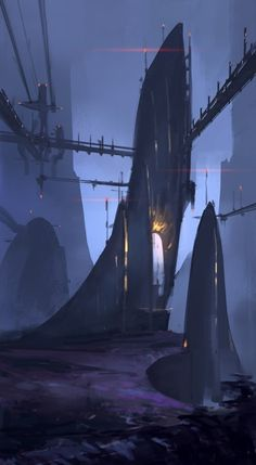 Environments by Aleksey Kovalenko, via Behance