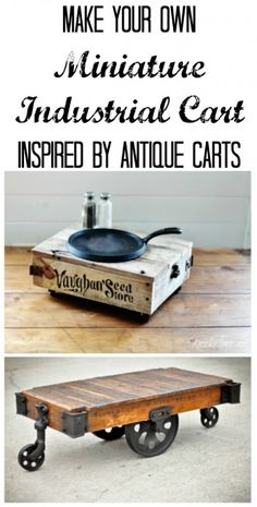 DIY Tabletop Industrial Cart - Knick of Time at KnickofTime.net