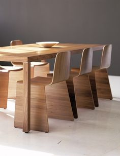 NXT stackable chairs with Pärson table.  Available at Scandinavian Design, Inc.