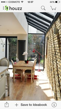 Terraced House Glass Extention Design Ideas, Pictures, Remodel and Decor Terraced House, Extension Veranda, Glass Extension, Kitchen Extension With Glass Roof, Victorian Terrace, Victorian Homes, Victorian London, Side Return Extension, Extension Designs