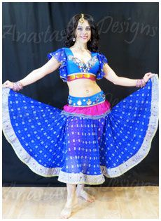 Blue Bollywood lehenga set - sold Bollywood Costume, Bollywood Lehenga, Fred And Ginger, Blue Lotus, Dance Company, Dns, Dance Costumes, Routine, Two Piece Skirt Set