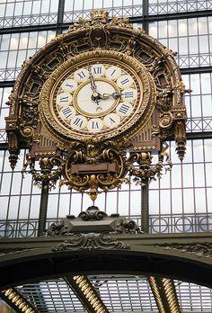 | ♕ |  atrium clock at Musée d'Orsay, Paris  | by © Rachel