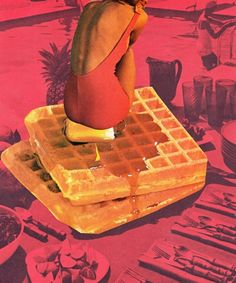 waffle summer collage