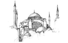 : Handdrawing from my sketchbook, Sketch of Hagia Sophia, Istanbul Turkey, from the album: drawelling, draw&travel fani fani album drawelling drawtravel fani Hagia Handdrawing Istanbul Sketch sketchbook Sophia Turkey Handdrawing from my sketc Art Sketches, Art Drawings, Drawing Art, Turkey Drawing, Hagia Sophia Istanbul, Art Folder, Turkish Art, Travel Drawing, Urban Sketchers