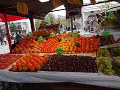 Feira de frutas Ljubljana Eslovênia