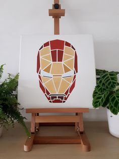 Portrait of Iron Man I made a while ago using fancy gold paint!