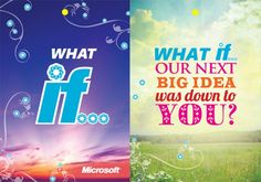 Microsoft - What if... by Michael Popiel Recruitment Advertising, Microsoft, Calm