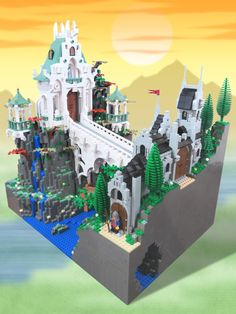 Beautiful castle of the Elves by Takeshi Itou   The Brothers Brick   LEGO Blog