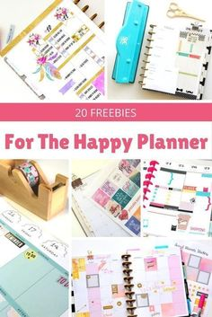 Personalize your calendar with these 20 awesome Happy Planner free printables! Get stickers, cards, lists, and more. These are my favorites! Note: these printables work for Erin Condren, Day Designer, and bullet journal too.