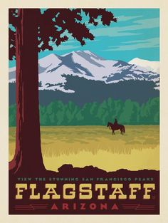 San Francisco Peaks, Flagstaff, Arizona National Park Posters, National Parks, Cool Posters, Maps Posters, Retro Posters, Vintage Travel Posters, Vintage Airline, Flagstaff Arizona, Westerns