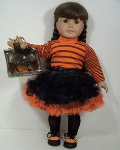 Girl 3T 4T and Doll Matching Brown Skirt Outfit Clothes American Girl Dollie Me