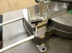 Miter Saw Thumbscrew Modification by Captainleeward -- Thumb Screw mod-Miter saw. Made from crs...