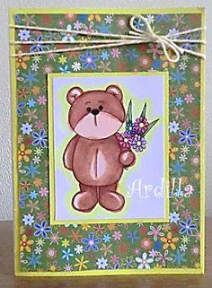 Ardilla's Papers: Beary nice flowers