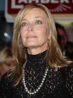 Bo Derek attended Lambertz Monday Night looking classy in a black dress and a pearl necklace.
