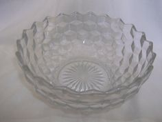 Fostoria Glass American Nappy Deep Bowl 8 Inches