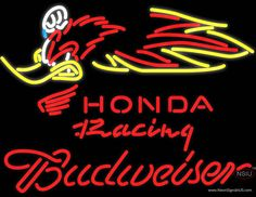 Budweiser Honda Racing Woody Woodpecker Crf , Real Neon Glass Tube Neon Sign,Affordable and durable,Made in USA,if you want to get it ,please click the visit button or go to my website,you can get everything neon from us. based in CA USA, free shipping and 1 year warranty , 24/7 service
