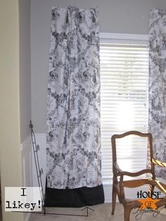 How to lengthen too-short curtains @House of Hepworths