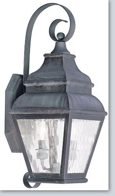 """Exeter Traditional Outdoor Wall Light 8"""" x  21.5"""" x 9.5 ext. - Available at GrandLight.com $314.42 at www.bathketchendecore.com (next size up 29"""")"""