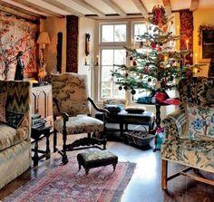 English country home Christmas