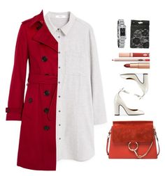 """""""Unbenannt #1615"""" by uniqueautumn ❤ liked on Polyvore featuring Valentino, MANGO, Burberry and Chloé"""
