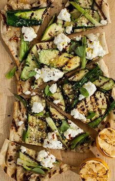 Grilled Zucchini & Ricotta Flatbread