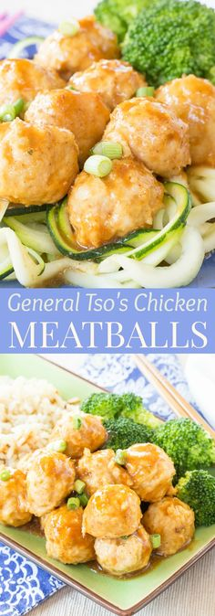 General Tso's Chicken Meatballs - this sweet and savory meatball recipe is a healthier way to enjoy the flavors of your favorite Chinese takeout. Gluten free and grain free options too! | cupcakesandkalechips.com