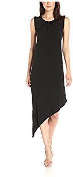 London Times Women's Sleeveless Asymmetrical Dress, Black