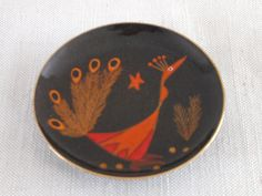 Round dish Enamel on Copper by Miguel Pineda