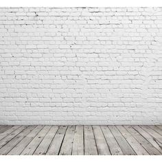 White brick wall and wood floor. ❤ liked on Polyvore featuring backgrounds, floor, rooms, home, phrase, quotes, saying and text