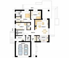 Ariel 7 projekt domu - Jesteśmy AUTOREM - DOMY w Stylu Home Building Design, Building A House, House Design, House Plans Mansion, Best House Plans, Garage, Floor Plans, How To Plan, Mansions